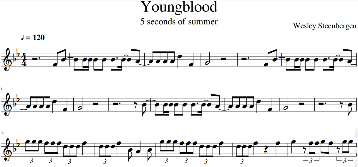 Five Seconds Of Summer Youngblood Chords Hype Vacation