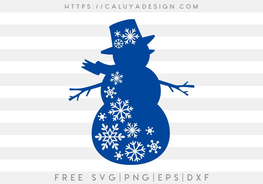 Free Snow Flake Snowman SVG, PNG, EPS & DXF by Cricut