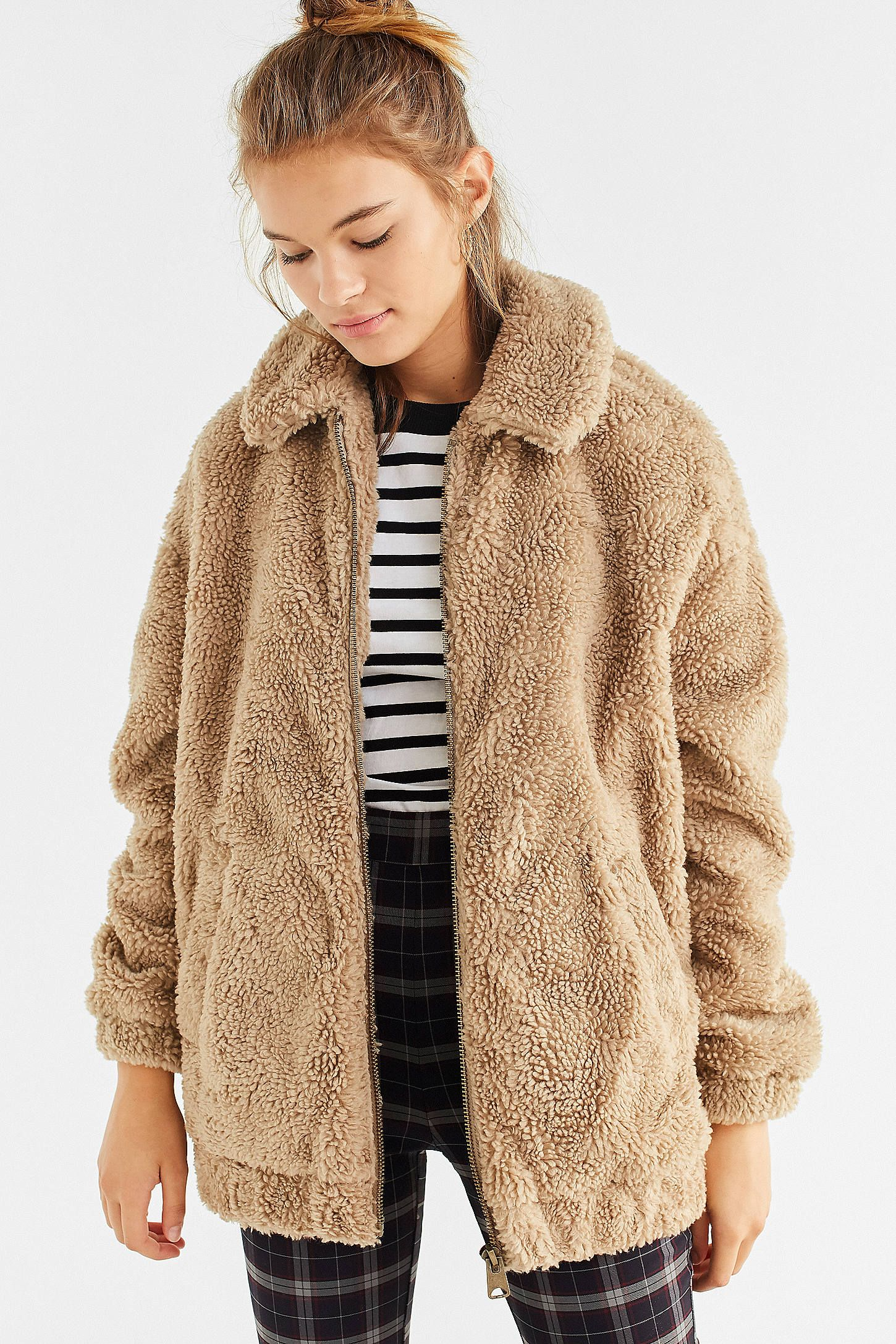 Shop Light Before Dark Oversized Sherpa Zip-Up Jacket at Urban Outfitters  today. We carry all the latest styles ba08866fa
