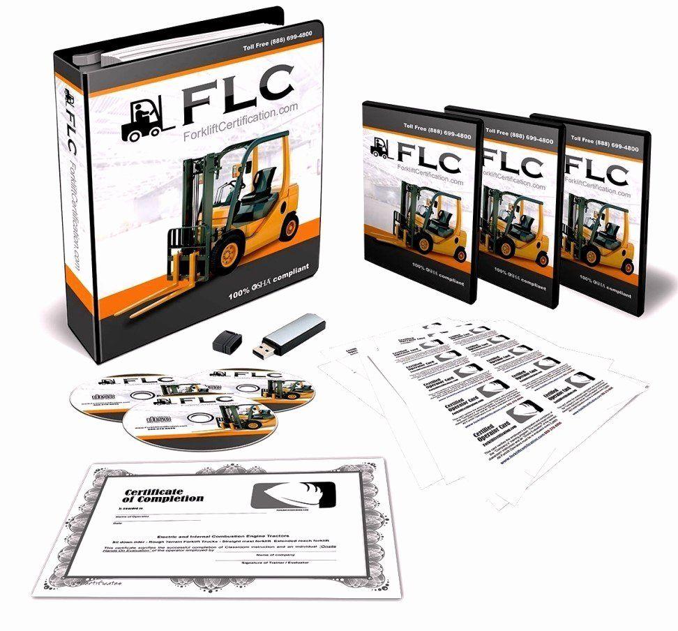 Equipment Operator Certification Card Template Elegant Forklift Certification License Template Update234 Forklift Training Training Certificate Forklift