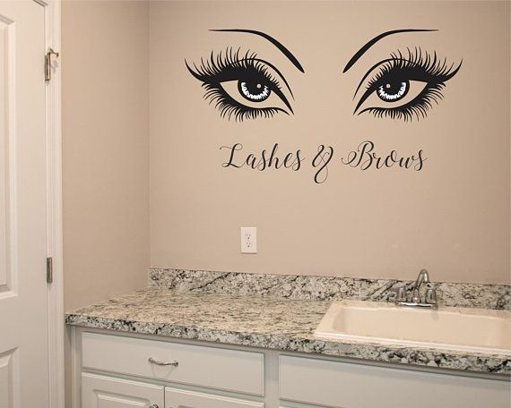 Beautiful, classy brows and lashes wall decor for your ...