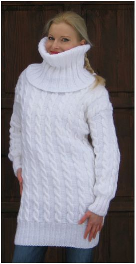 Made to order hand knitted soft wool mohair sweater by supertanya