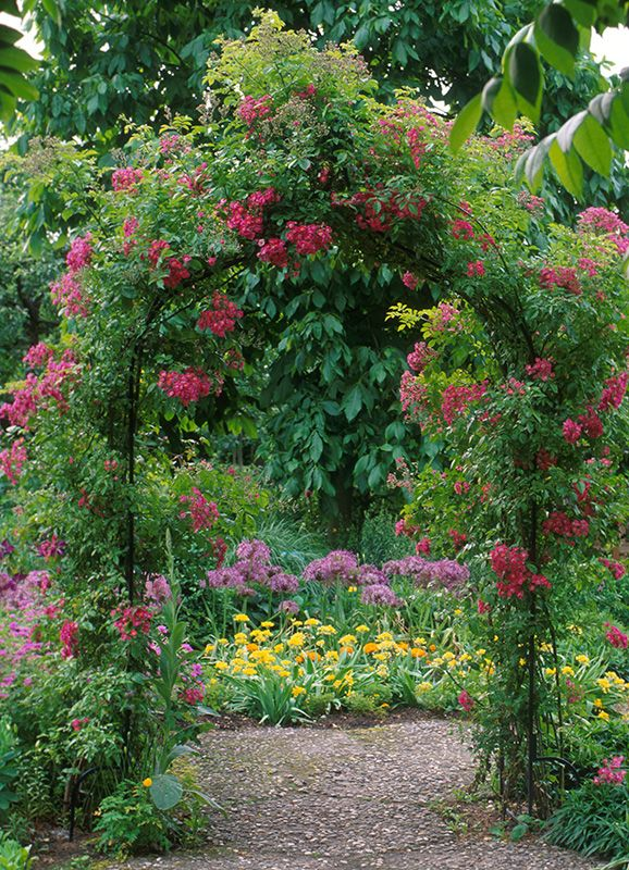 Victorian Garden Arch In An English Country