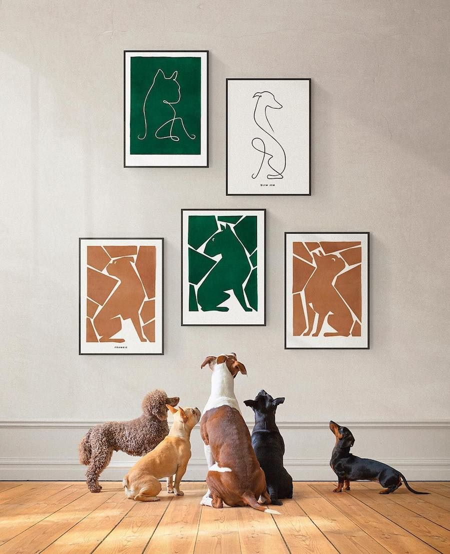 40fbefca79a2 Personalized Modern Art for Dog Lovers from Dogmade | Pets! in 2019 ...