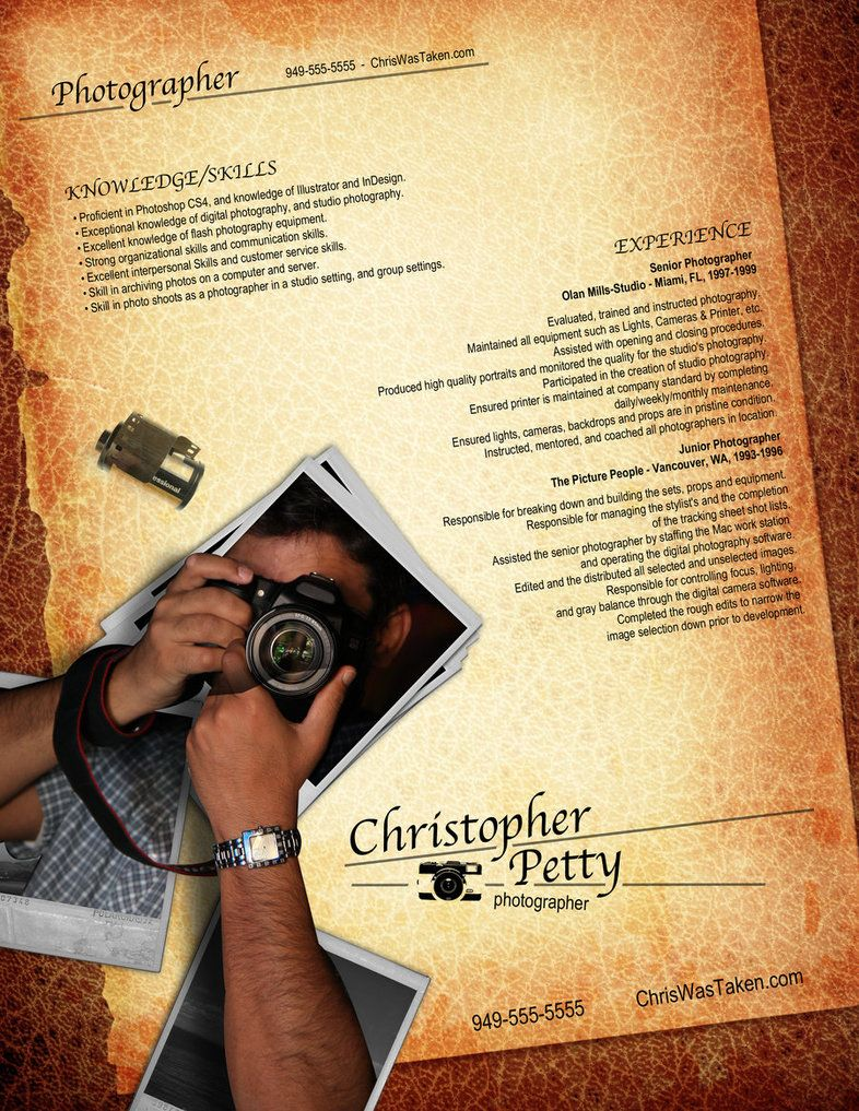resume photographer by rkaponm on deviantart