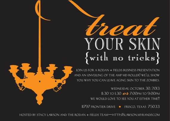 Treat your Skin Fall Business Invitation DIY or by lauraleidesign - invitation unveiling