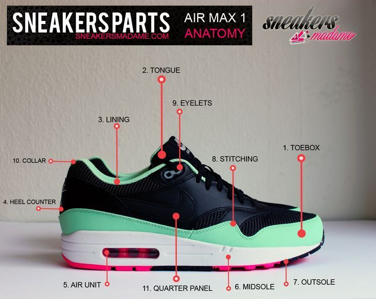 Sneaker Anatomy Google Search Shoe Pinterest Anatomy