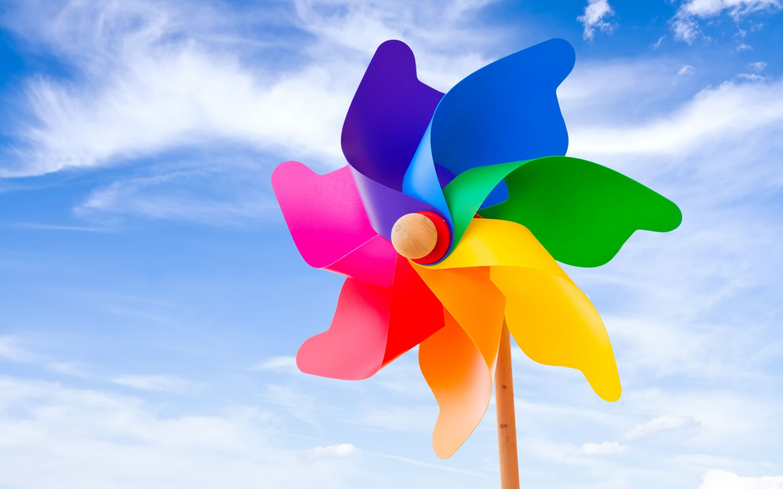 Large colorful pinwheels make pretty outdoor decor Yard Garden