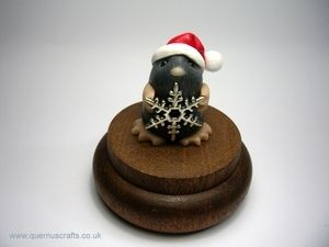 DECEMBER 22nd 2013  It wasn't easy choosing a Christmas creature from all the cuteness by Kirsten at Quernus Crafts for window 22 but this lovely little mole had the edge!  £20 from http://www.quernuscraftsshop.co.uk