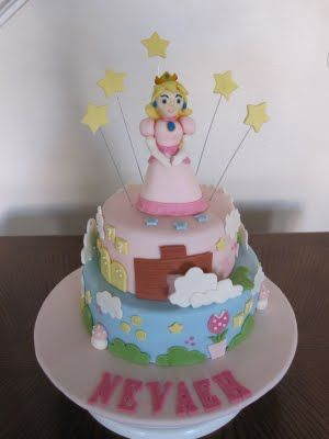 Princess Peach Cake Cake Decorating In 2019 Peach Cake