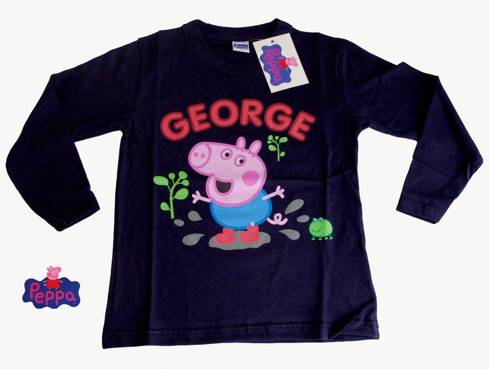 Maglietta a Maniche Lunghe in Cotone Peppa Pig