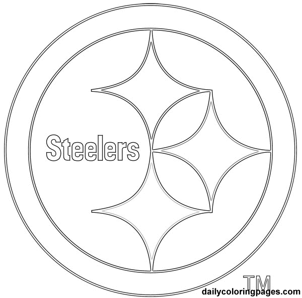 sports coloring pages sports team logos coloring pages kids coloring pages - Nfl Logo Coloring Pages Printable