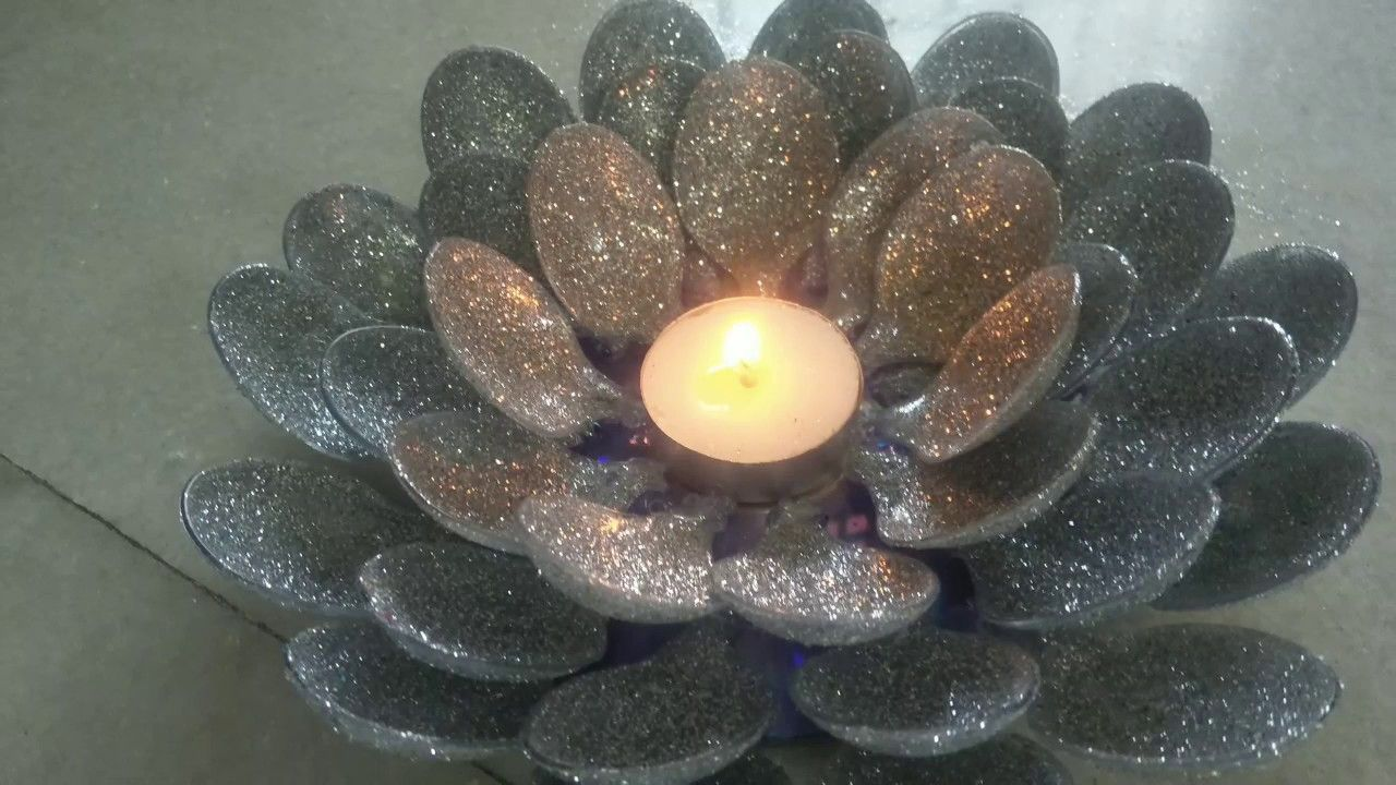 DIY Diwali special spoon candle holder Candle holders