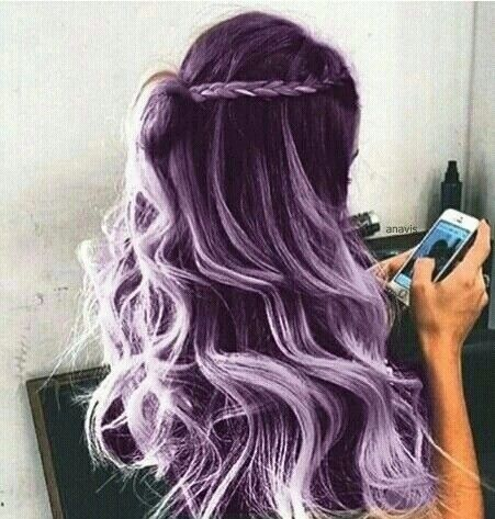 violet *_*. Upliked by AveryRavasio Cheveux, Coiffure et