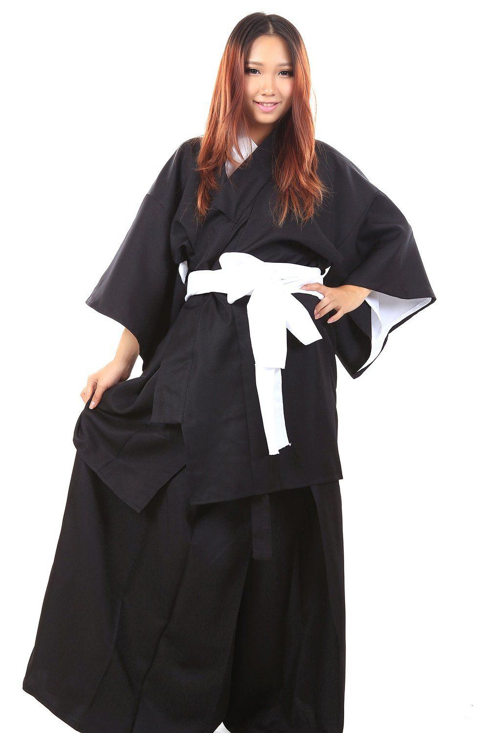 WS_COS Bleach Cosplay Costume Kuchiki Rukia Shinigami Black Female Kimono 3XL *** Be sure to check out this awesome product.