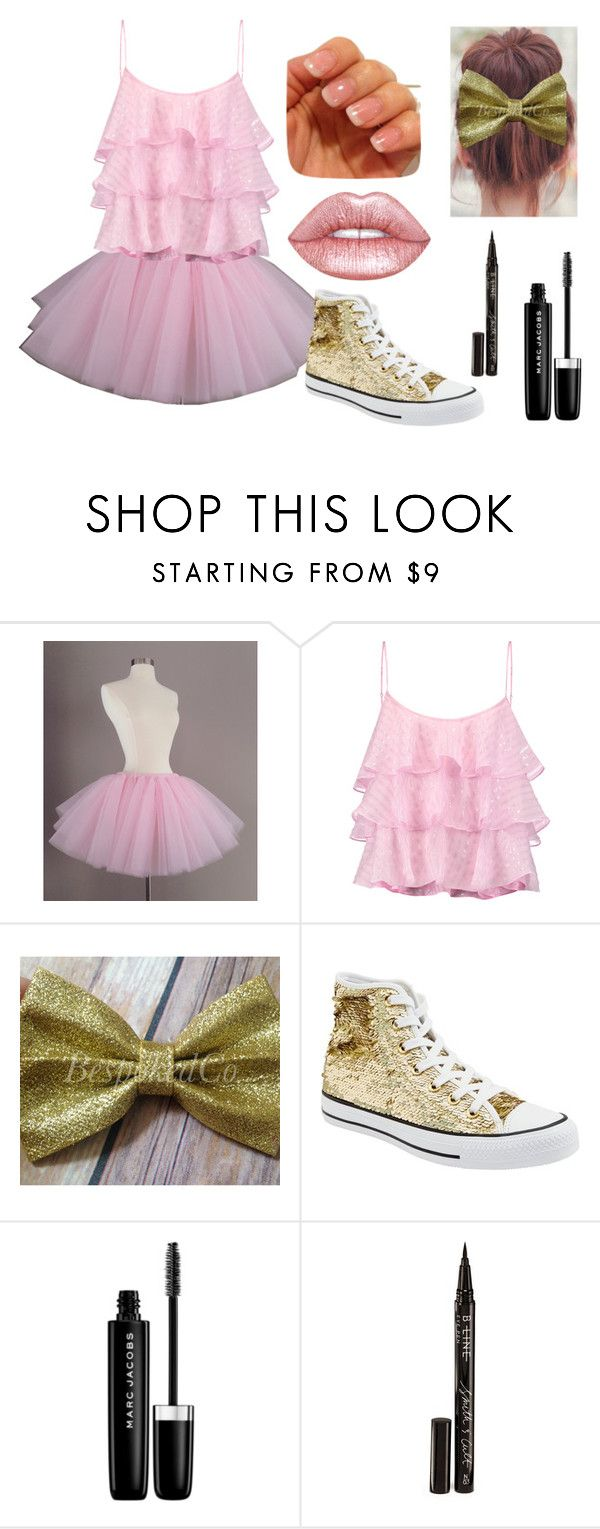 """""""Sugar Daddy's Girl Dance Solo"""" by faceygirl ❤ liked on Polyvore featuring Pierre Balmain, Converse, Marc Jacobs, Smith & Cult and Lime Crime"""