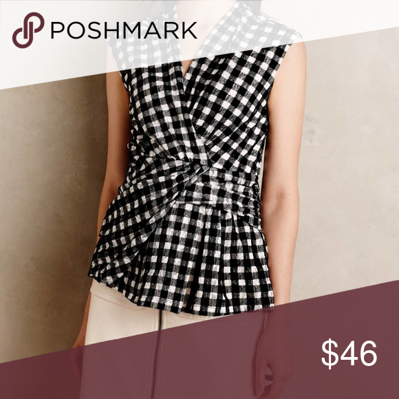 1add4fba25e9 Spotted while shopping on Poshmark: ANTHROPOLOGIE HP 💗 Deletta Delphine  Gingham Top! #poshmark #fashion #shopping #style #Anthropologie #Tops
