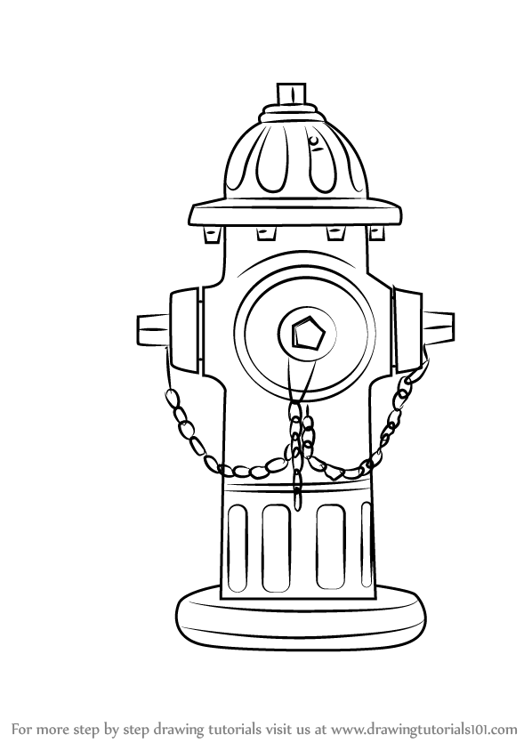 how to draw fire hydrant drawingtutorials101 com hydrants