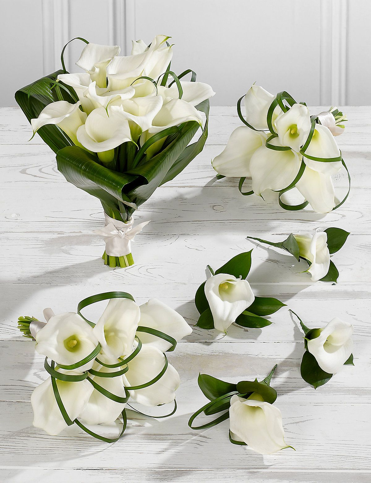 White Calla Lily Wedding Flowers Collection 2 M&S