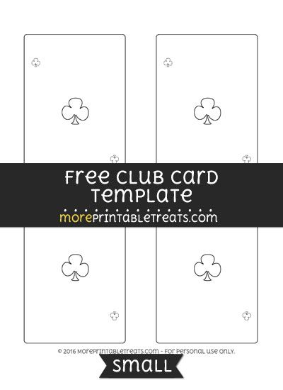 Free Club Card Template - Small Shapes and Templates Printables - club membership card template