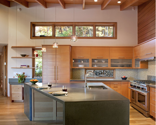 Awesome Vertical Grain Fir Kitchen Cabinets