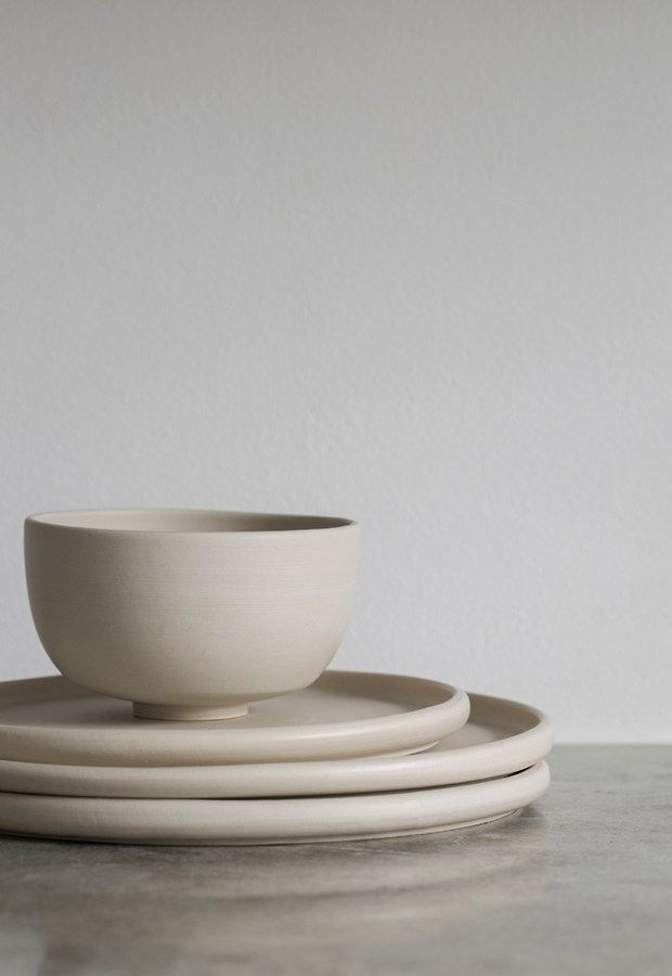 Minimalist ceramics from melo these four walls blog