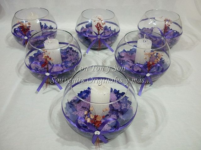 Decoracion para fiestas centros de mesa con velas by con for Decoracion de velas