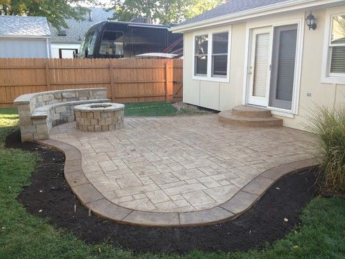 Decorative Concrete Patio Border Ideas   Best Patio Design Ideas Gallery  1088