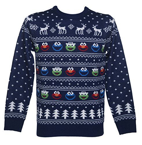 Mens Sesame Street Fair Isle Knitted Christmas Jumper – Men's ...