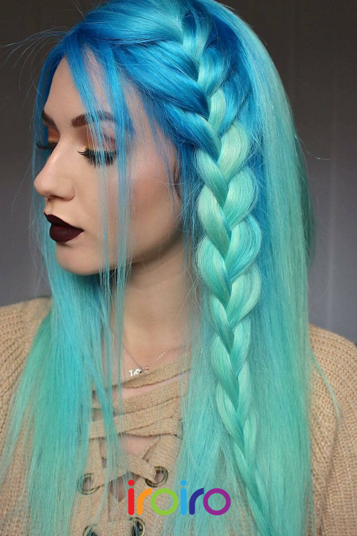 Neon Blue Ombre Hair Bight Blue And Turquoise Hair Style Blue Mermaid Hair Inspiration Mermaid Unico Turquoise Hair Blue Ombre Hair Turquoise Hair Ombre