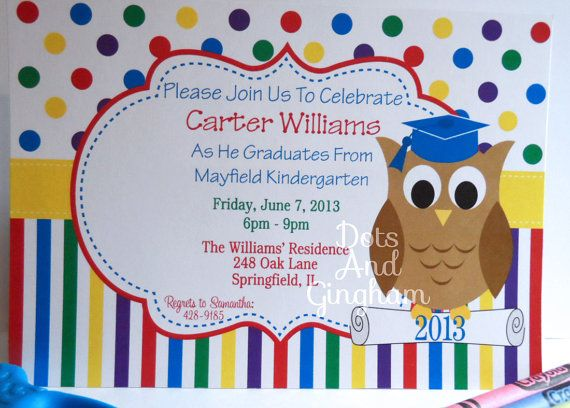 graduation invitation kindergarten graduation invitation graduation