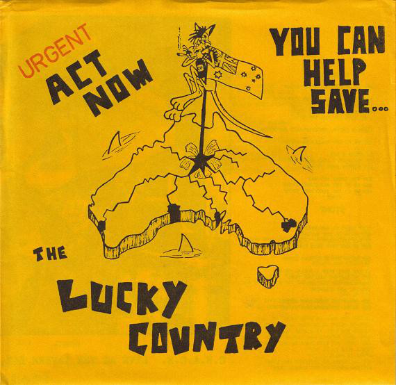 C H A O S Urgent Act Now You Can Help Save The Lucky Country 1985 Vinyl Discogs In 2020 Lyric Prints Lucky Acting