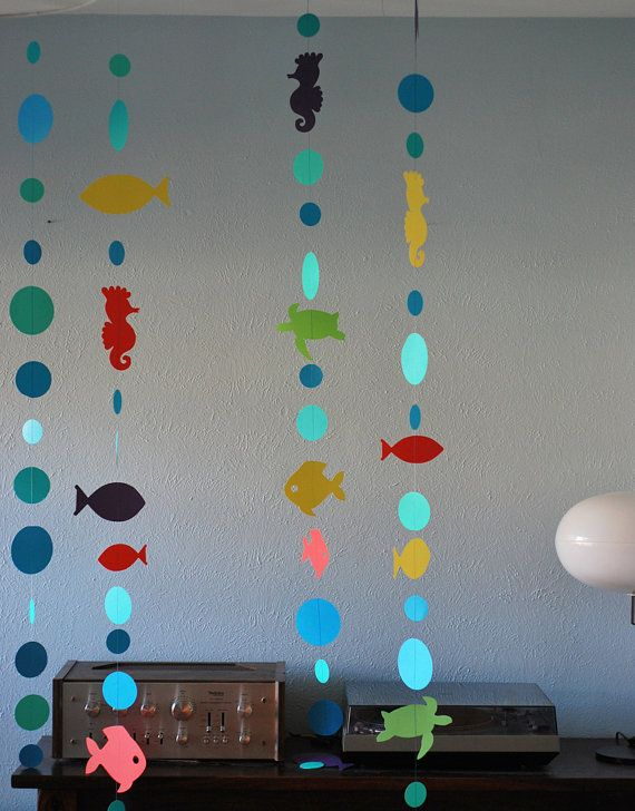 Under The Sea Party Decoration, Under the Sea Garland, Under the Sea Baby Shower, Under the Sea Birthday, Custom Parties by PartyAtYourDoor #sommerlichebastelarbeiten