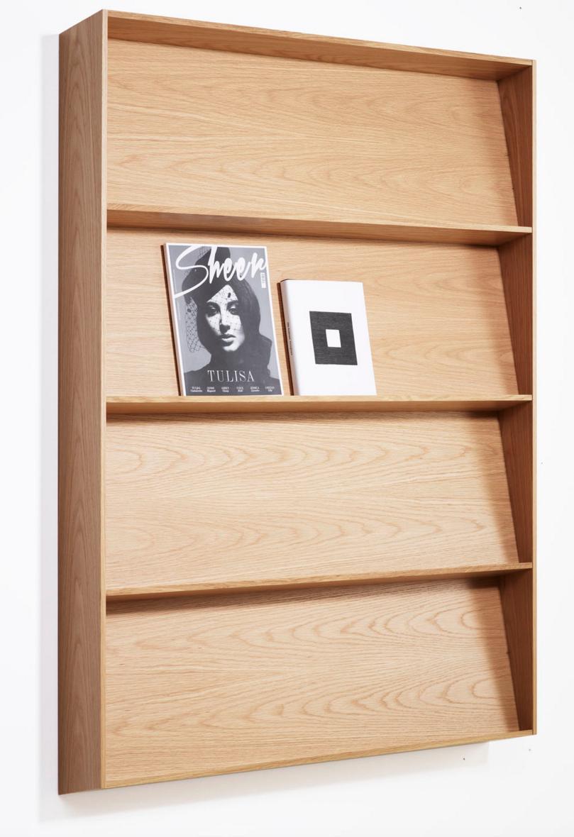 affordable prsentoir mural bois design karl andersson wood wall shelve design brochure display. Black Bedroom Furniture Sets. Home Design Ideas