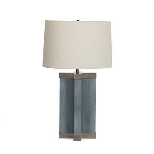 Shagreen lamp baby blue white shade all lighting resource decor