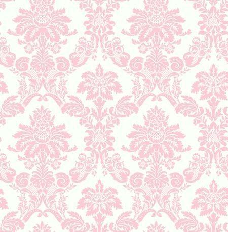 wallpaper designer light pink damask on off white pink