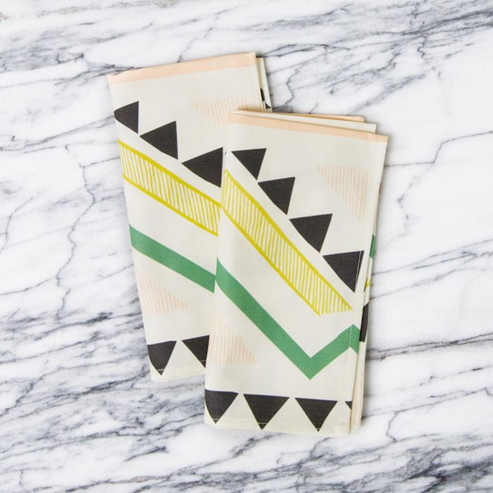 For a Little Flash:  Geometric & Patterned Napkins from A Sunny Afternoon