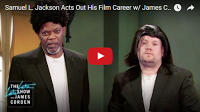 SCG VIRALS: Samuel L. Jackson Acts Out His Film Career w/ James Corden