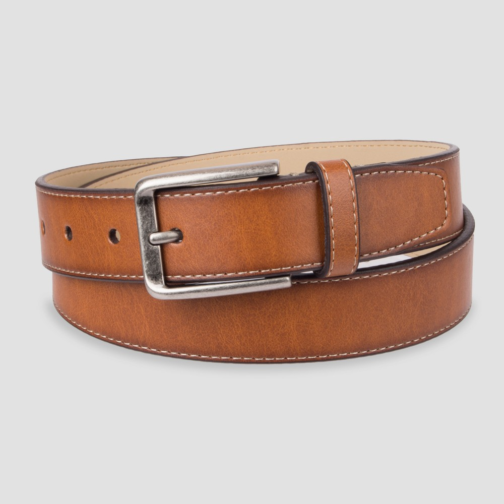 Leather Belts For Men Reversible Leather Stitched Full Grain Cow Leather Belt