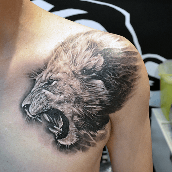 Top 73 Lion Chest Tattoo Ideas 2020 Inspiration Guide Lion Shoulder Tattoo Lion Chest Tattoo Tattoos