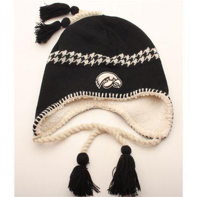 Iowa Hawkeyes Zephyr NCAA Alpine Hawkeye Logo Knit Hat (Black Ivory ... 28fe8b7fa97