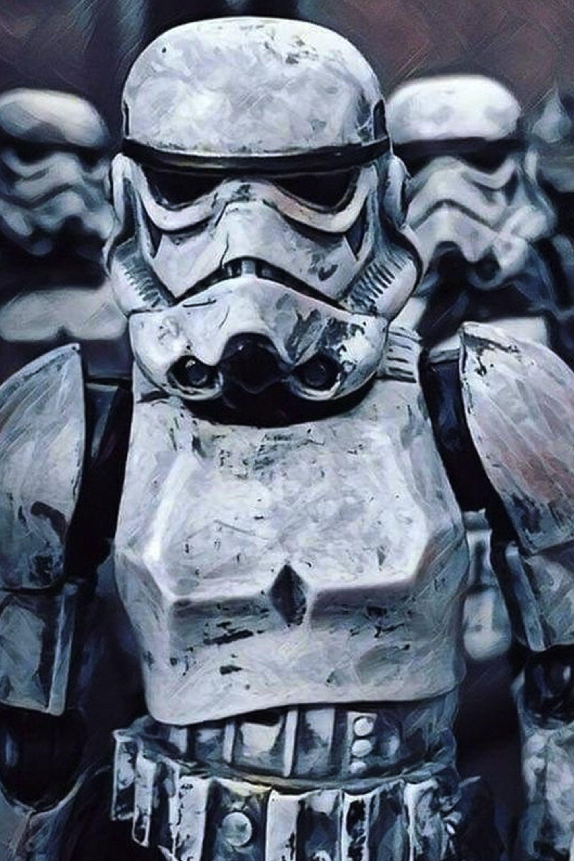 Star Wars Distressed Storm Trooper Wall Art Canvas Print Various