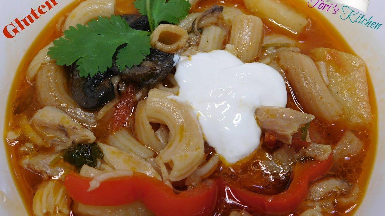 Gluten Free- Chicken & Vegetables Macaroni Tomato Soup