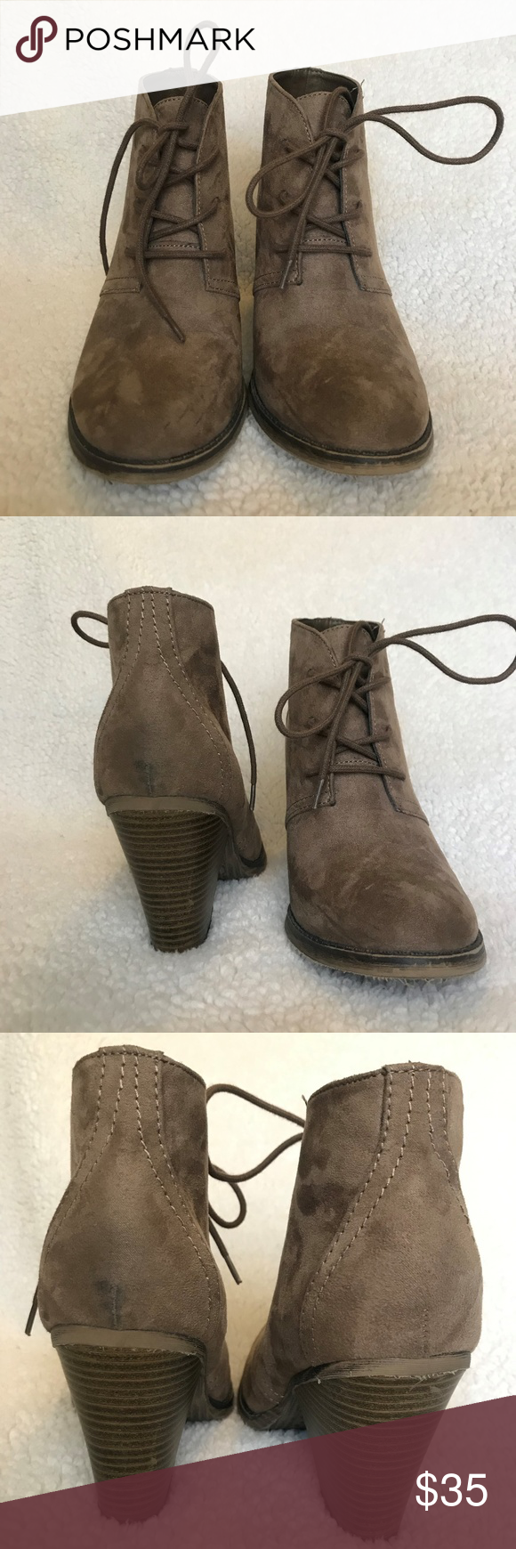 MIA fall ankle boots These MIA ankle boots are perfect for a Saturday downtown with your favorite poncho or duster cardigan, skinny jeans, and an oversized hat. Ankle boots will be the perfect touch for all of your Instagram worthy outfits. The shoes are a tan faux suede with a heel about 3 inches tall featuring a wood-like finish. MIA Shoes Ankle Boots & Booties #skinnyjeansandankleboots