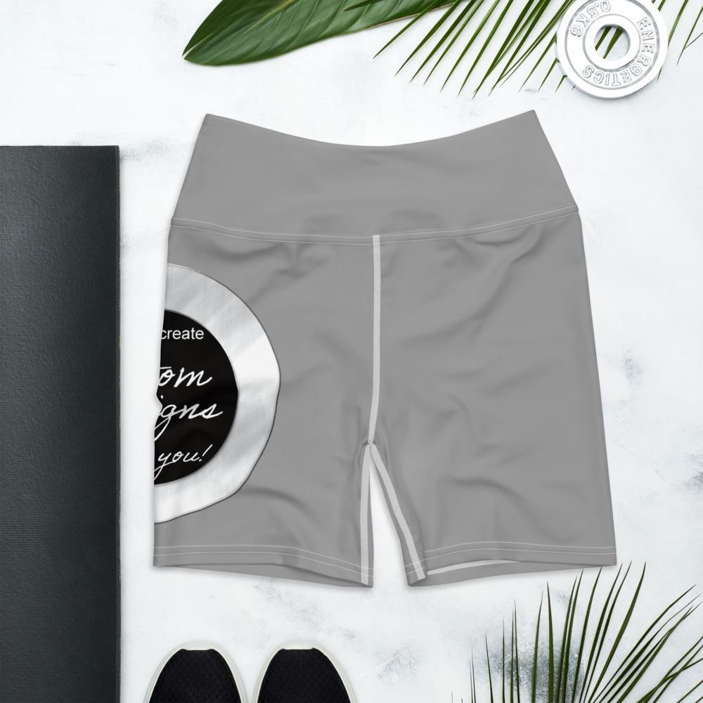 Yoga Shorts - Custom Designed - XS / Standard / Grey