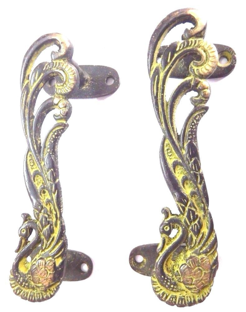 SNAKE SHAPE ANTIQUE VINTAGE FINISH HANDMADE BRASS DOOR HANDLE KNOB HOME DECOR