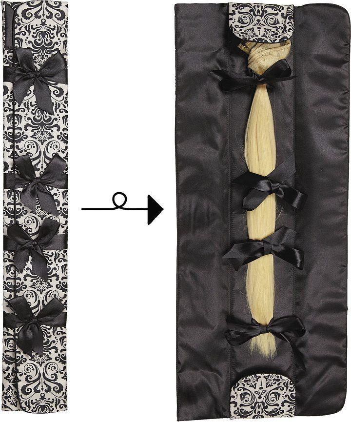 Design Lengths Black Brocade Hair Extension Storage Case