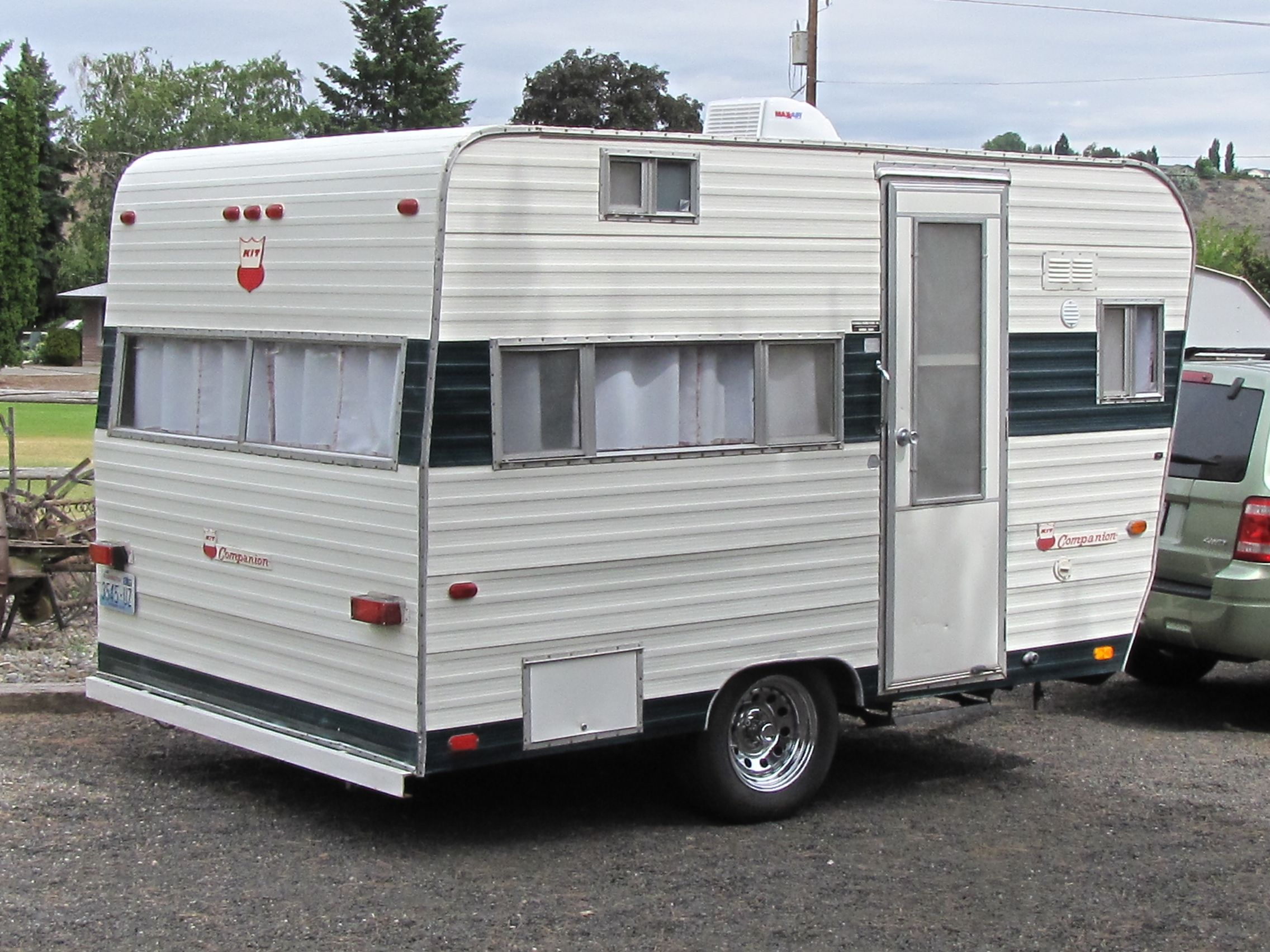 Our 1970 Kit Companion vintage trailer. Trailer Diy, Vintage Travel Trailers,  Vintage Campers
