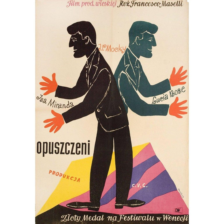 Abandoned 1958 Polish A1 Film Poster #filmposterdesign