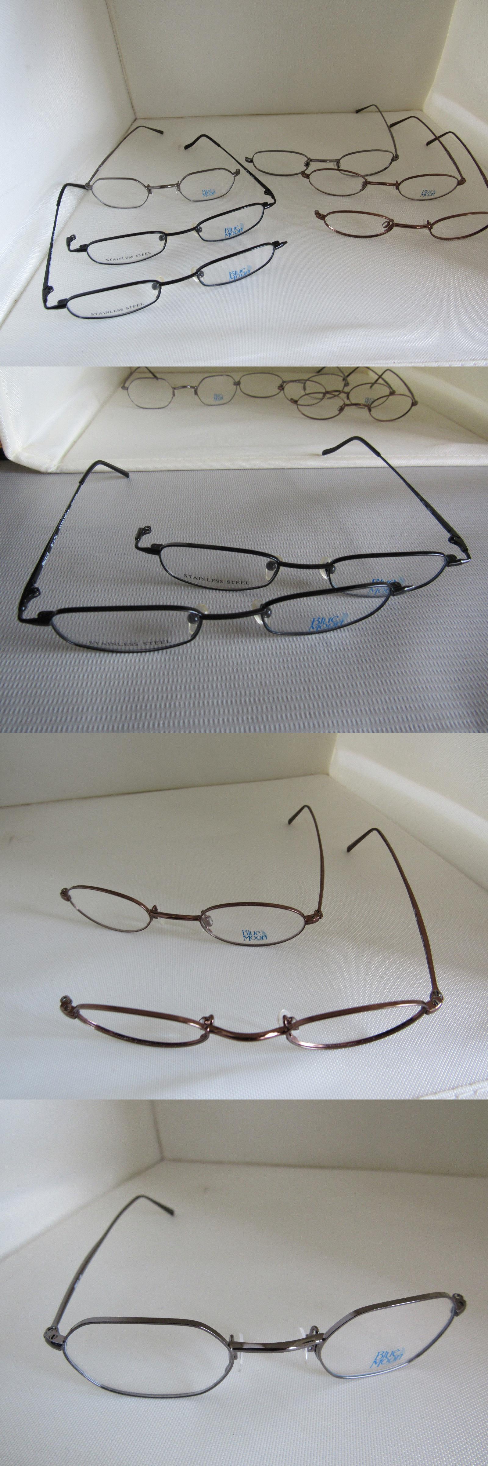 Eyeglass Cases: Lot Of 6 Nos Blue Moon Eyeglass Metal Frames Only ...